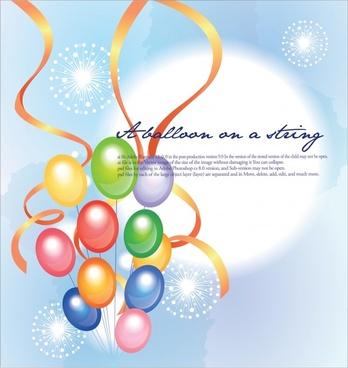 festive background bright colorful balloon ribbon fireworks decor