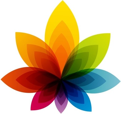colorful flower abstract background vector graphic