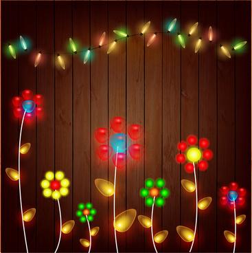colorful flower neon light decoration