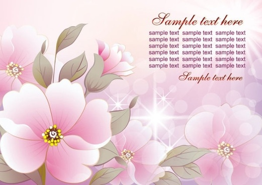 colorful flowers background 02 vector