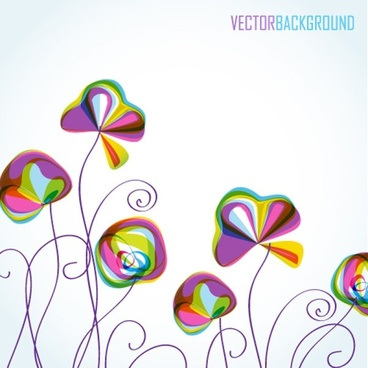 colorful flowers background pattern 04 vector