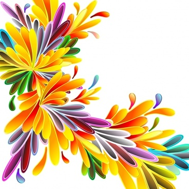 flowers background bright colorful modern design
