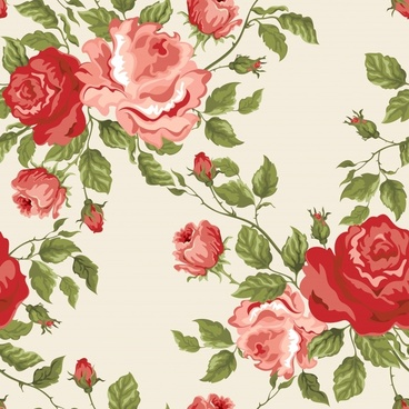 flower background elegant colored classic handdrawn decor