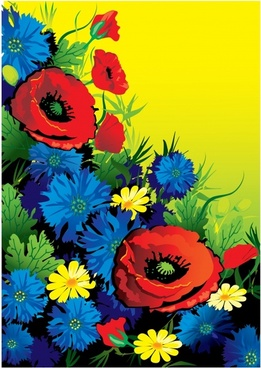 flowers painting colorful classical decor