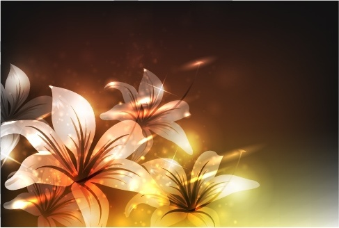 flowers background modern twinkling bokeh light effect decor
