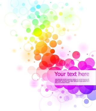 abstract background colorful vivid circles decor