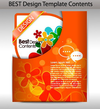 colorful folder element vector graphic