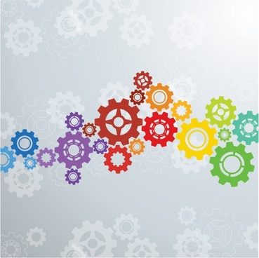 Colorful gears background