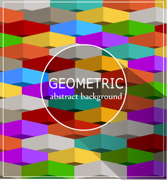 colorful geometry abstract background
