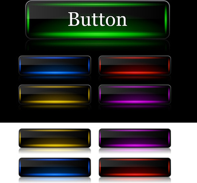 colorful glass button web vector