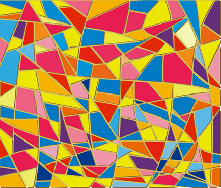 colorful glass mosaic vector background set