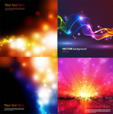 colorful halo light background vector art