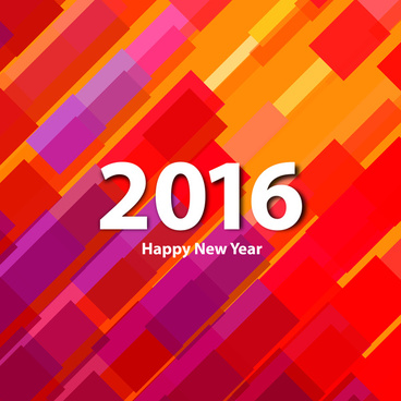 colorful happy new year 2016 card