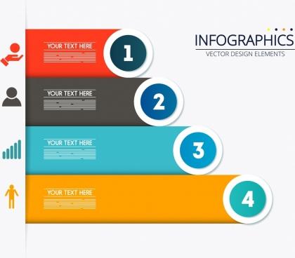 colorful horizontal bar chart inforgraphic