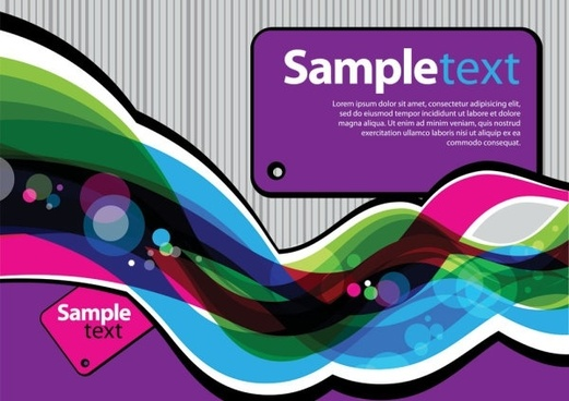 colorful illustration background 01 vector