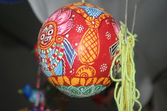 colorful indian handicraft