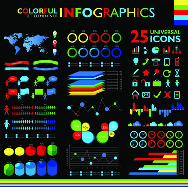colorful infographic vector