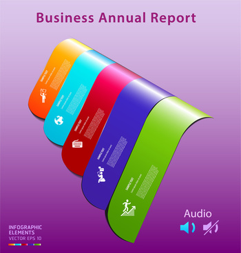 colorful infographic vector of business annual report