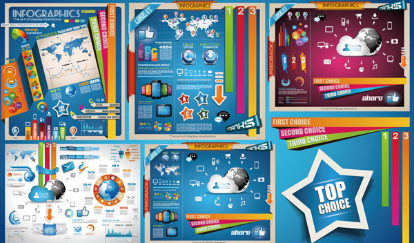 colorful information chart design vector