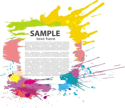 colorful ink border vector