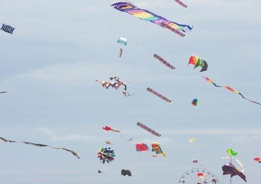 colorful kites galore