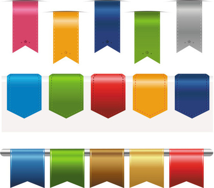 colorful label stickers free vector