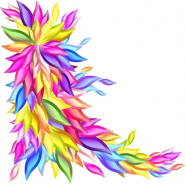 decorative background bright colorful flower leaf decor