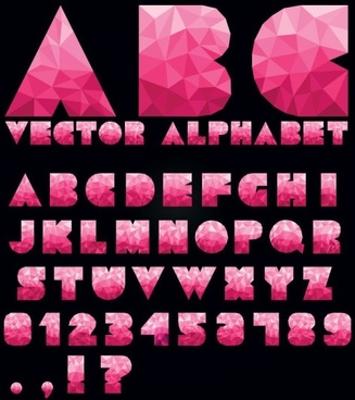 colorful letters and numbers 03 vector