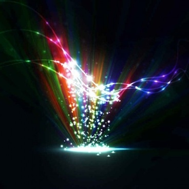 colorful light dynamic background vector design