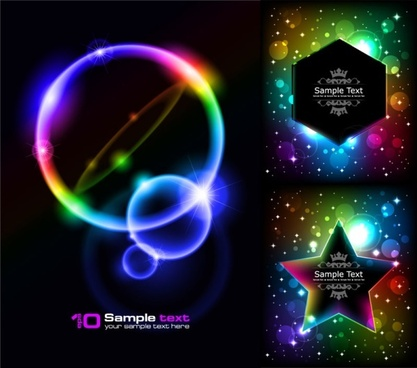 colorful light modern background vector