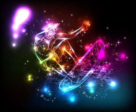 colorful lights background 05 vector