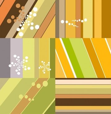 abstract background sets colorful flat stripes ornament
