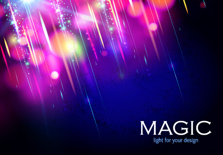 colorful magic light shiny background vector
