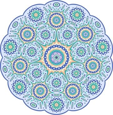 colorful mandala pattern circle vector illustration
