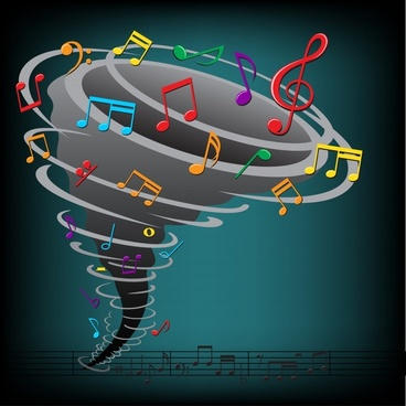 musical background colorful dynamic whirling design