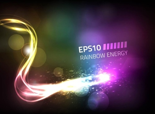colorful neon stars background 04 vector