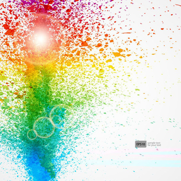 colorful object splash backgrounds vector