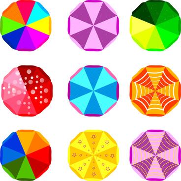 colorful octagon decor design