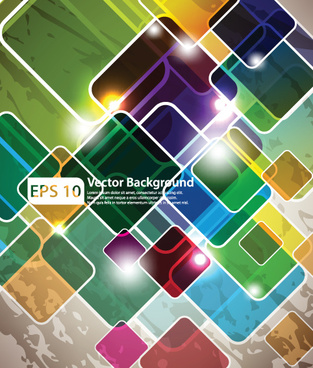 colorful of abstract background art vector