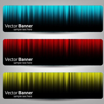 colorful optical line vector banner