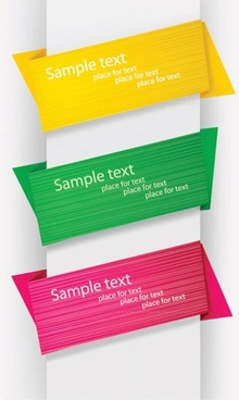 colorful origami decorative graphics vector 1
