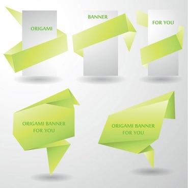 colorful origami decorative graphics vector 4