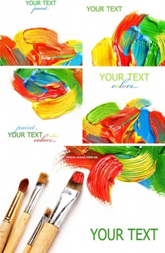 colorful paint and brush hd picture 5p
