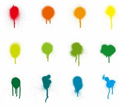 Colorful Paint Splash Vector Set