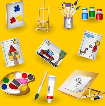 colorful paint vector elements