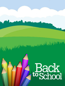 colorful paintbrush template vector