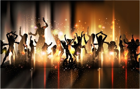 colorful party dance party background vector