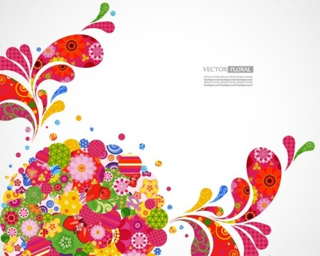 colorful pattern background 03 vector
