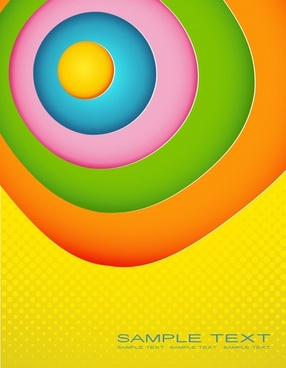abstract background colorful flat circles decor