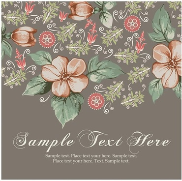 flowers background colorful classic petals leaf decor